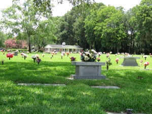 A beautiful local cemetery on Memorial Day weekend.